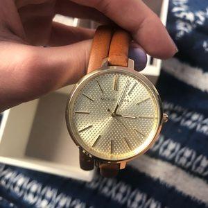 Brand new beautiful Michael Kors leather watch!!